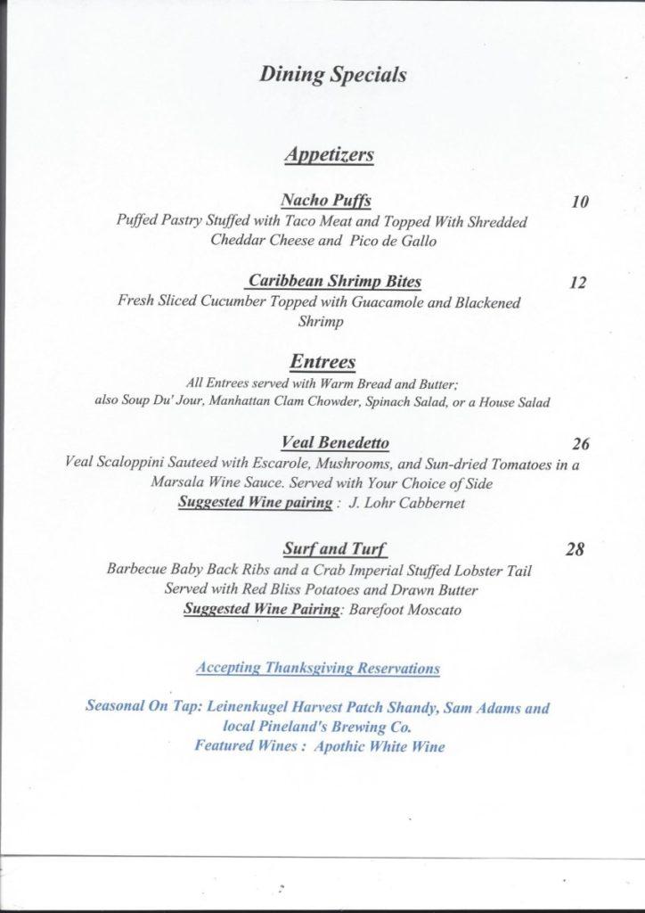 11-17-724x1024 The Grapevine Restaurant in Tuckerton